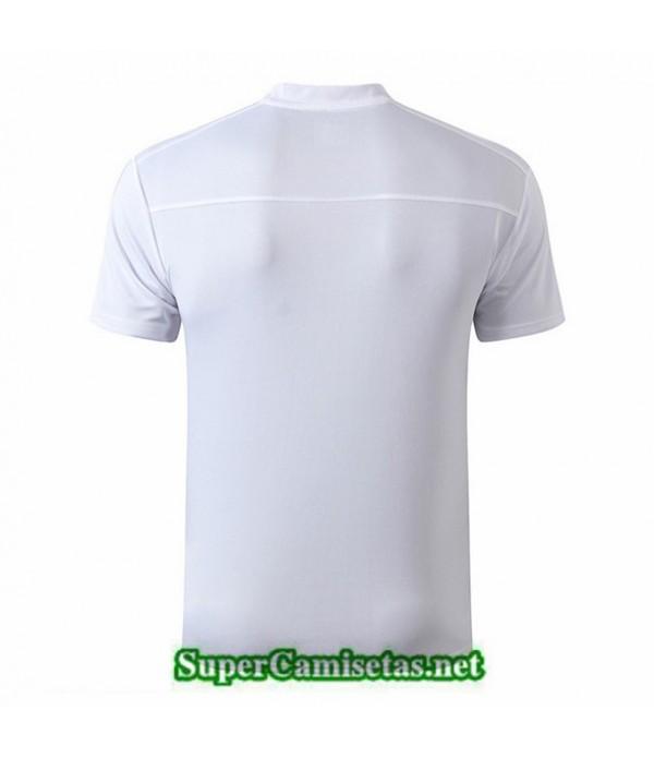 Tailandia Camiseta Entrenamiento Marsella Blanco/azul Oscuro 2019/20 Cuello V