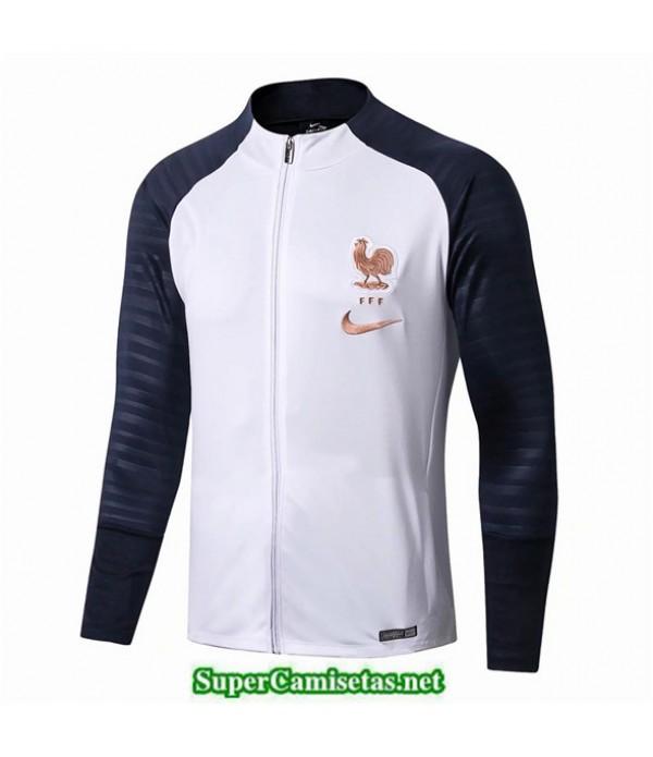 Tailandia Camiseta Francia Chaqueta Blanco/azul Oscuro 2019/20