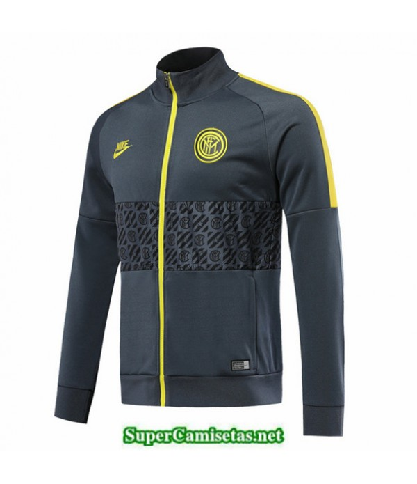 Tailandia Camiseta Inter Milan Chaqueta Gris Oscuro 2019/20