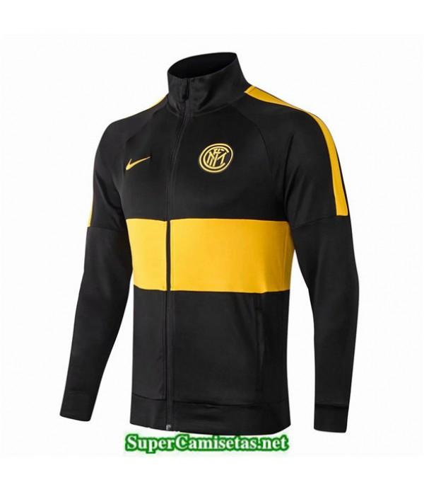 Tailandia Camiseta Inter Milan Chaqueta Negro/amarillo 2019/20
