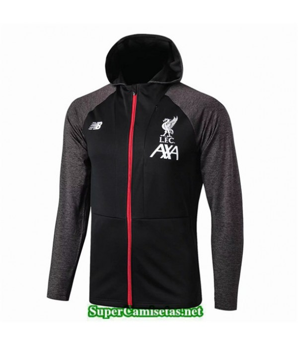 Tailandia Camiseta Liverpool Chaqueta Negro Sombrero 2019/20