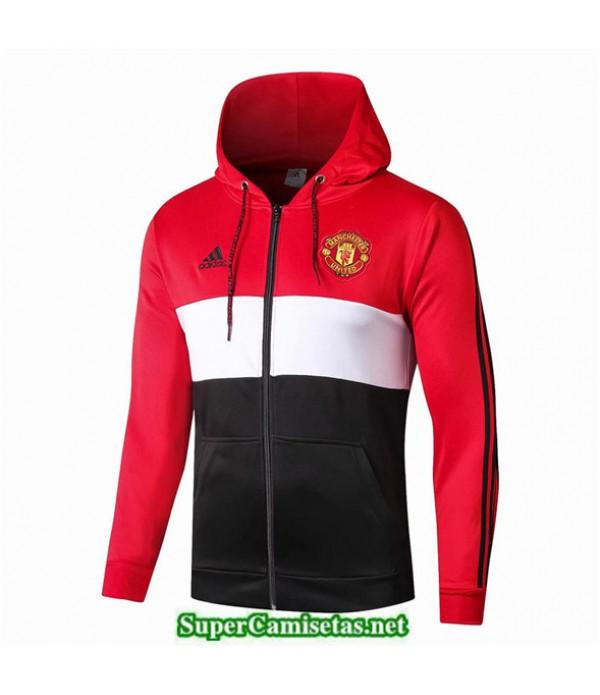 Tailandia Camiseta Manchester United Chaqueta Rojo/blanco/negro 2019/20 Sombrero