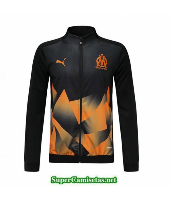 Tailandia Camiseta Marsella Chaqueta Negro/naranja 2019/20