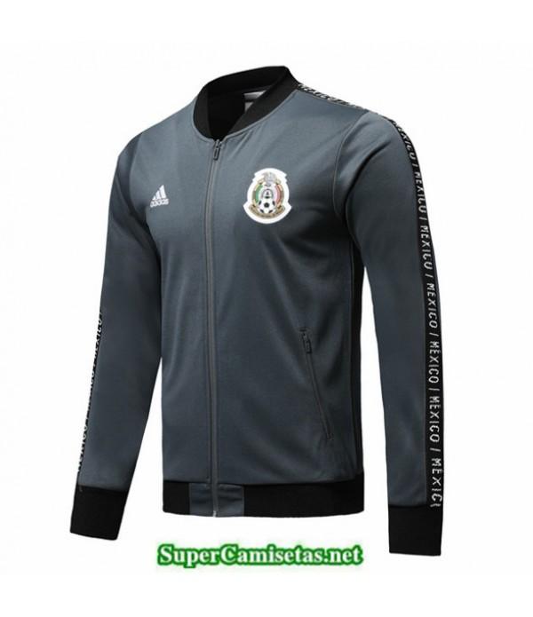 Tailandia Camiseta Mexique Chaqueta Gris Oscuro 2019/20
