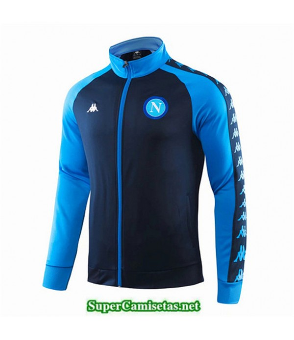 Tailandia Camiseta Napoli Chaqueta Azul/azul Oscuro 2019/20