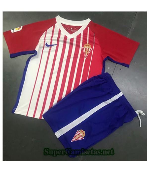 Tailandia Camiseta Niños Primera Sporting Gijon2019/20