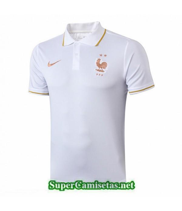 Tailandia Camiseta Polo Entrenamiento Francia Blanco/azul Oscuro