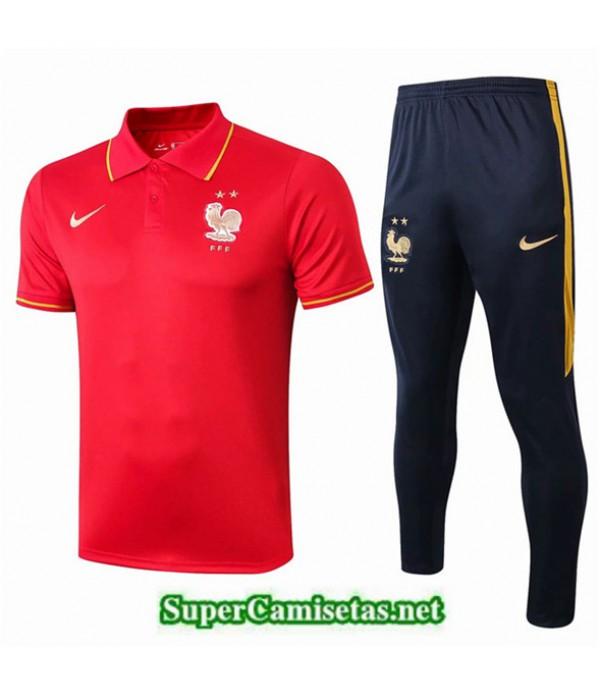 Tailandia Camiseta Polo Entrenamiento Francia Rojo/azul Oscuro