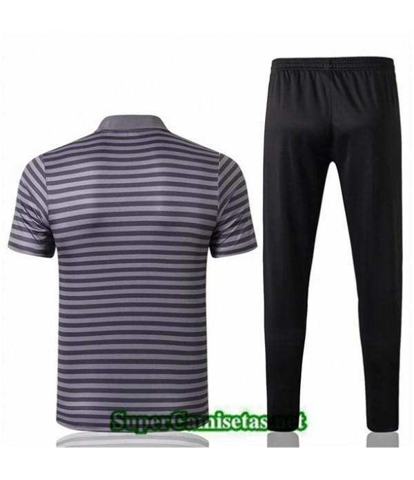 Tailandia Camiseta Polo Entrenamiento Liverpool Gris Banda Negro 2019/20