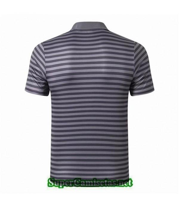 Tailandia Camiseta Polo Entrenamiento Liverpool Gris Bande Negro 2019/20