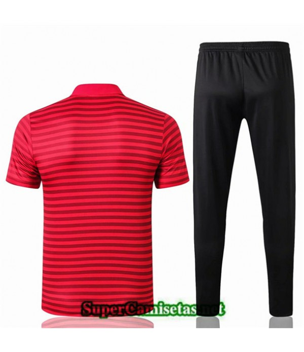 Tailandia Camiseta Polo Entrenamiento Liverpool Rojo Banda Negro 2019/20