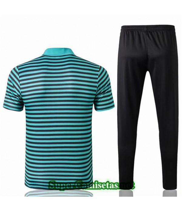 Tailandia Camiseta Polo Entrenamiento Liverpool Verde Banda Negro 2019/20