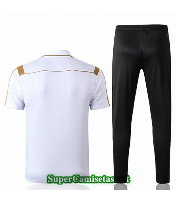Tailandia Camiseta Polo Entrenamiento Real Madrid Blanco/negro 2019/20