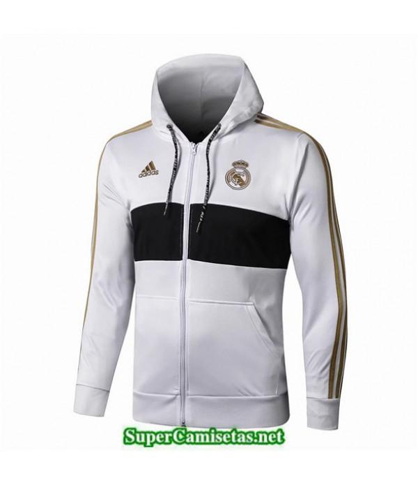 Tailandia Camiseta Real Madrid Chaqueta Blanco/negro 2019/20 Sombrero