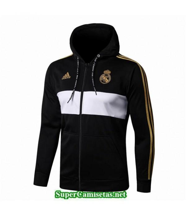 Tailandia Camiseta Real Madrid Chaqueta Negro/blanco 2019/20 Sombrero