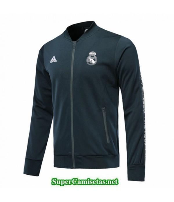 Tailandia Camiseta Real Madrid Longue Fermeture Eclair Chaqueta Azul Oscuro 2019/20