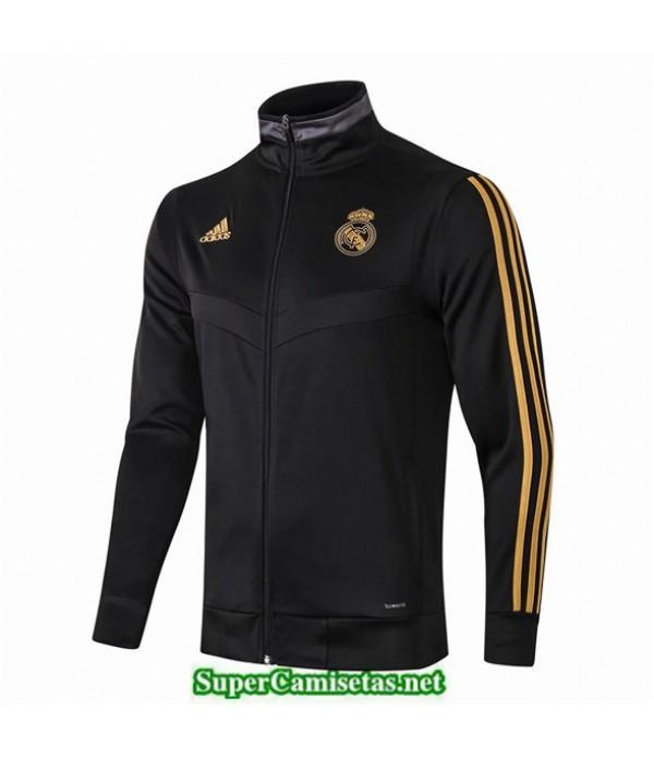 Tailandia Camiseta Real Madrid Longue Fermeture Eclair Chaqueta Negro 2019/20