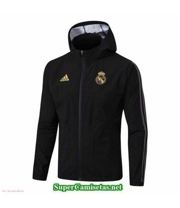 Tailandia Camiseta Real Madrid Rompevientos Negro Sombrero 2019/20
