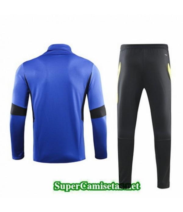 Tailandia Chandal Manchester United Azul/negro 2019/20 Cuello Alto
