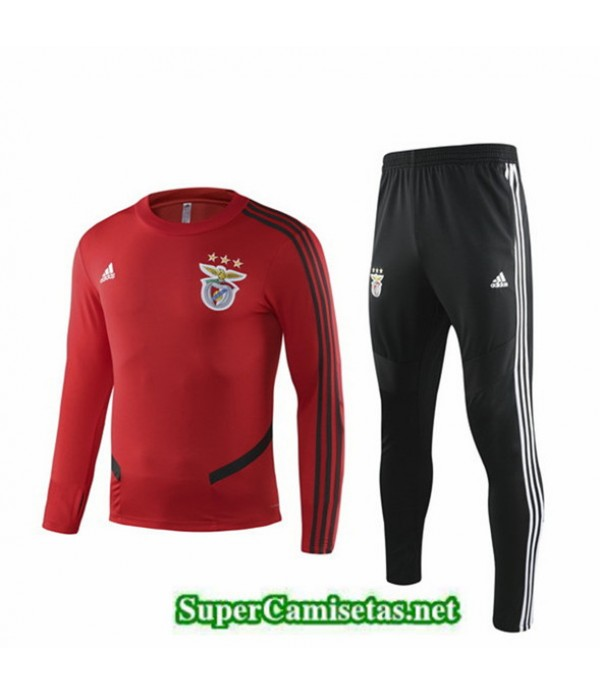 Tailandia Chandal Niño Benfica Rojo/negro 2019/20 Cuello Redondo