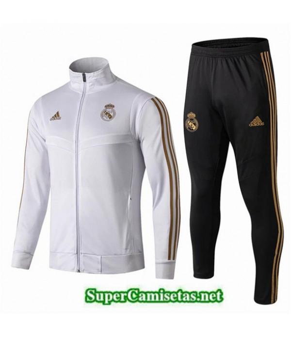 Tailandia Chaqueta Chandal Niño Real Madrid Blanco/negro 2019/20