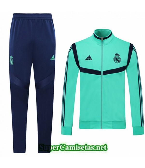 Tailandia Chaqueta Chandal Real Madrid Verde/azul 2019/20