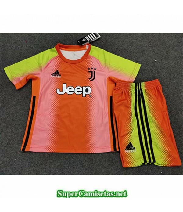 Tailandia Equipacion Camiseta Juventus Niños Portero Edición Especial Naranja 2019 2020