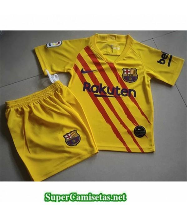 Tailandia Primera Equipacion Camiseta Barcelona Niños Amarillo 2019/20