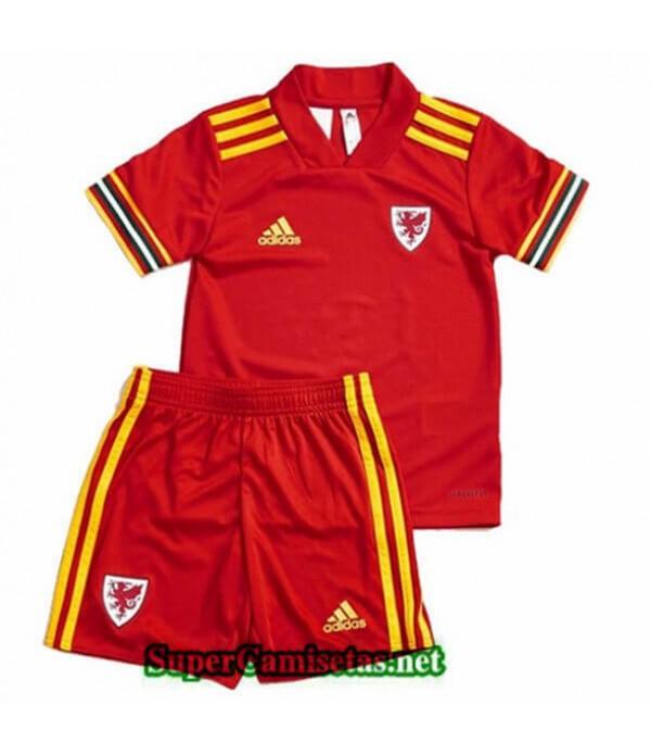 Tailandia Primera Equipacion Camiseta Gales Niños Uefa Euro 2020/2021