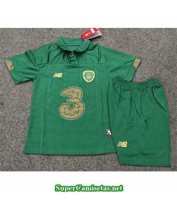 Tailandia Primera Equipacion Camiseta Irlanda Niños Uefa Euro 2020/2021