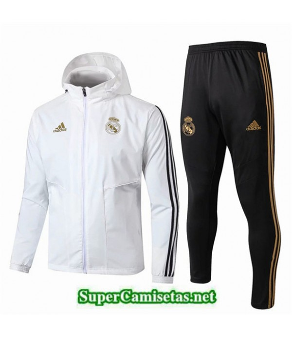 Tailandia Real Madrid Rompevientos Blanco/negro Sombrero 2019/20