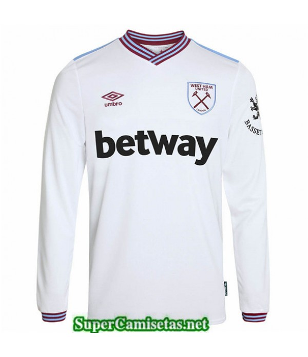 Tailandia Segunda Equipacion Camiseta West Ham Manga Larga 2019/20