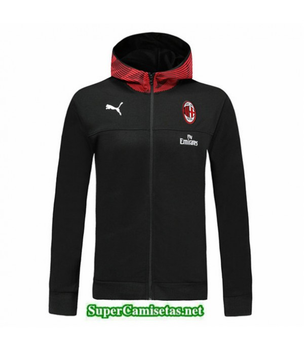 Tailandia Camiseta Ac Milan Chaqueta Sombrero V335 Negro/rojo 2019/20