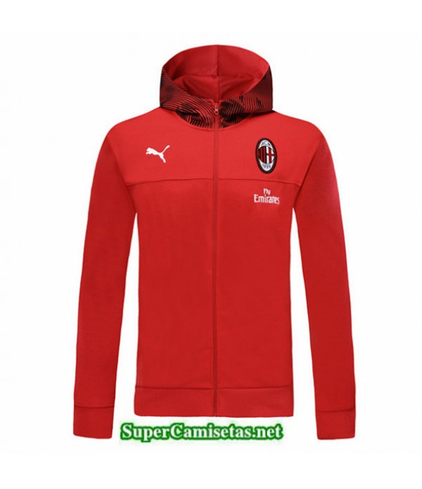 Tailandia Camiseta Ac Milan Chaqueta Sombrero V336 Rojo 2019/20