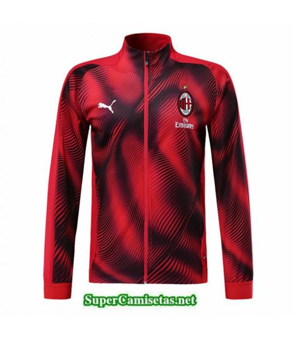 Tailandia Camiseta Ac Milan Chaqueta V337 Rojo/negro 2019/20