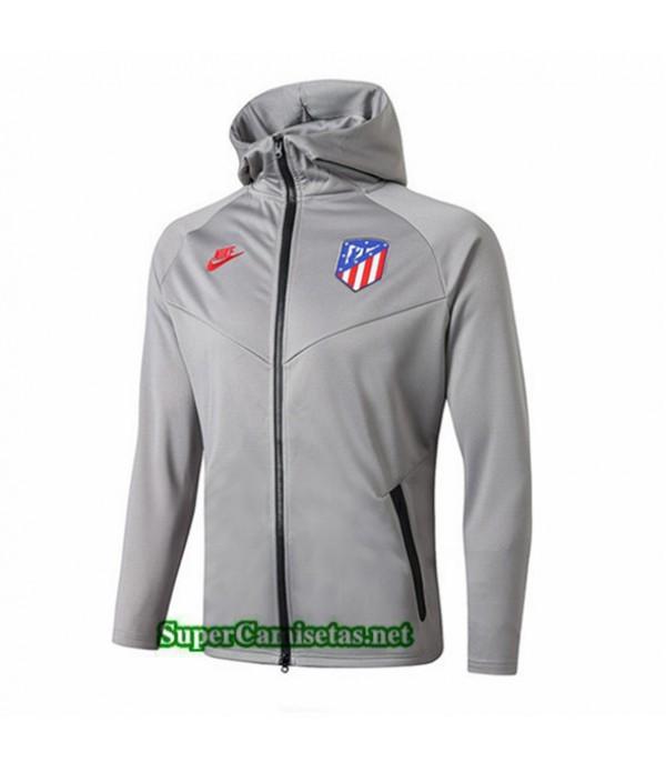 Tailandia Camiseta Atletico Madrid Chaqueta Sombrero V271 Gris 2019/20
