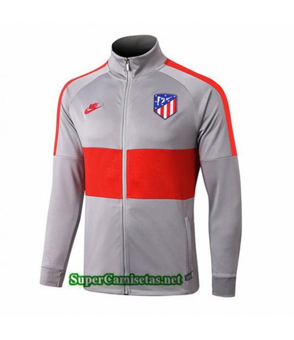 Tailandia Camiseta Atletico Madrid Chaqueta V272 Gris/rojo 2019/20