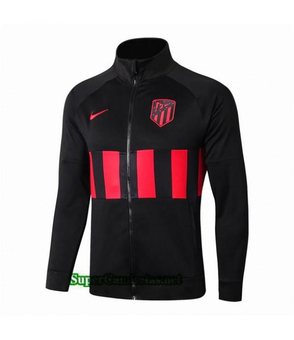 Tailandia Camiseta Atletico Madrid Chaqueta V274 Negro/banda Rojo 2019/20