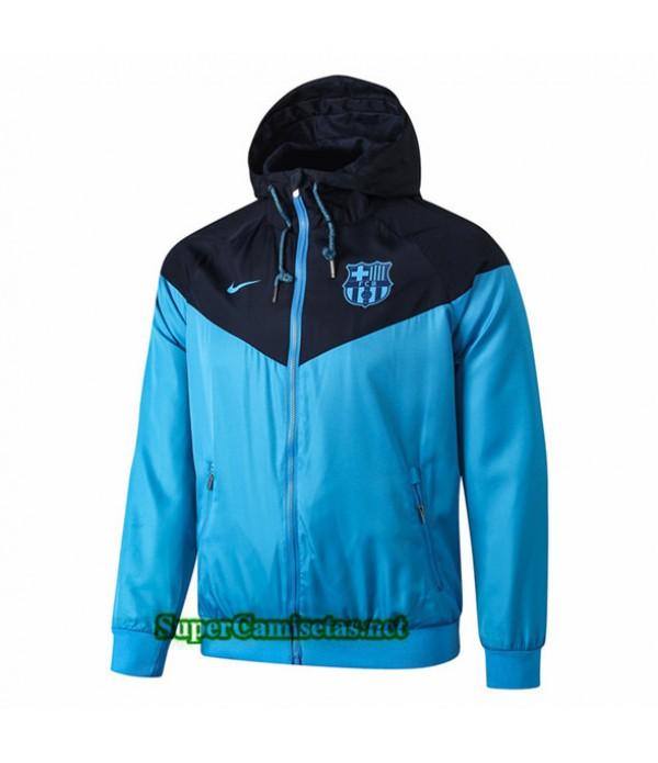 Tailandia Camiseta Barcelona Chaqueta Rompevientos Sombrero V276 Azul Oscuro 2019/20