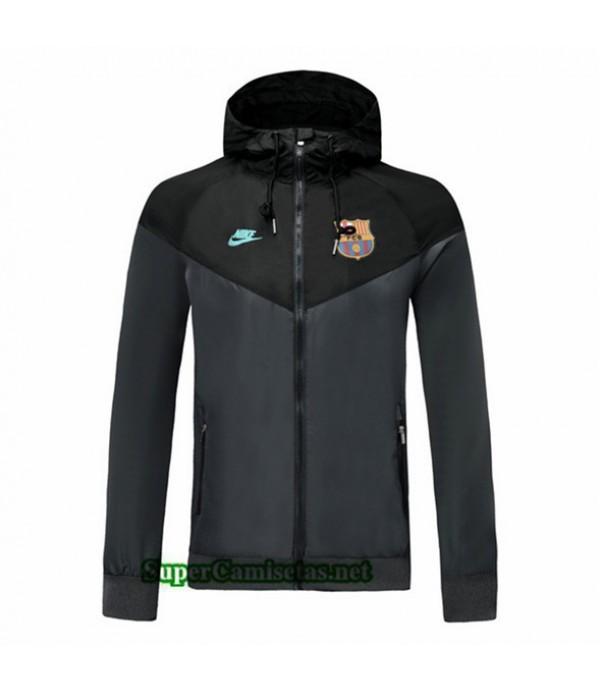 Tailandia Camiseta Barcelona Chaqueta Rompevientos Sombrero V277 Negro 2019/20