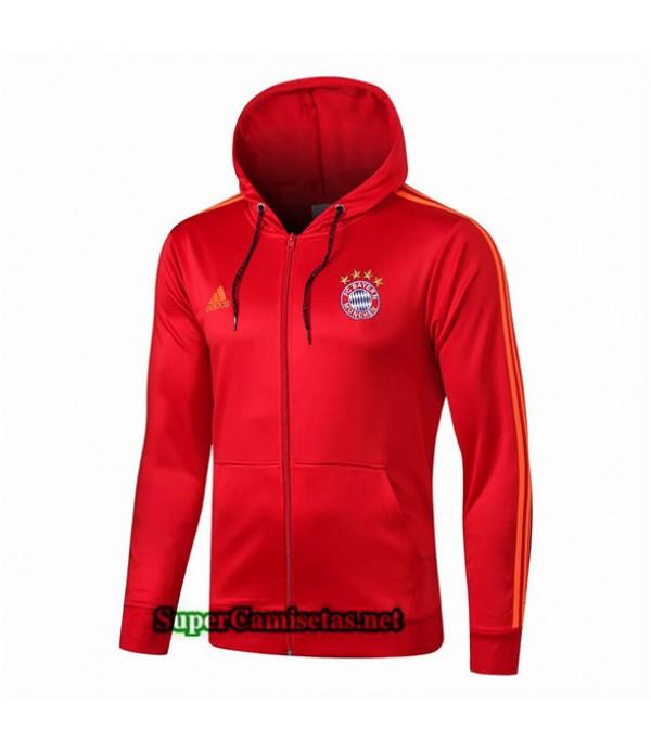 Tailandia Camiseta Bayern Munich Chaqueta Sombrero V264 Rojo/azul Oscuro 2019/20