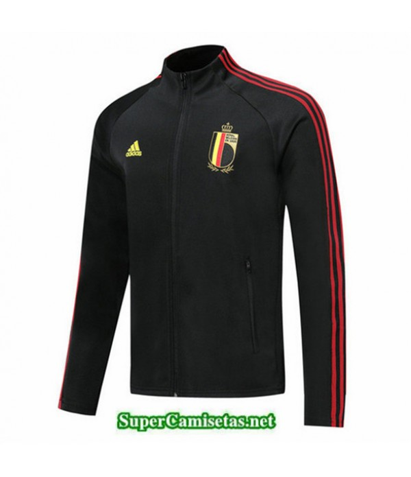 Tailandia Camiseta Belgica Chaqueta V330 Negro/banda Rojo 2019/20