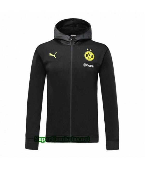 Tailandia Camiseta Borussia Dortmundchaqueta Sombrero V268 Negro 2019/20