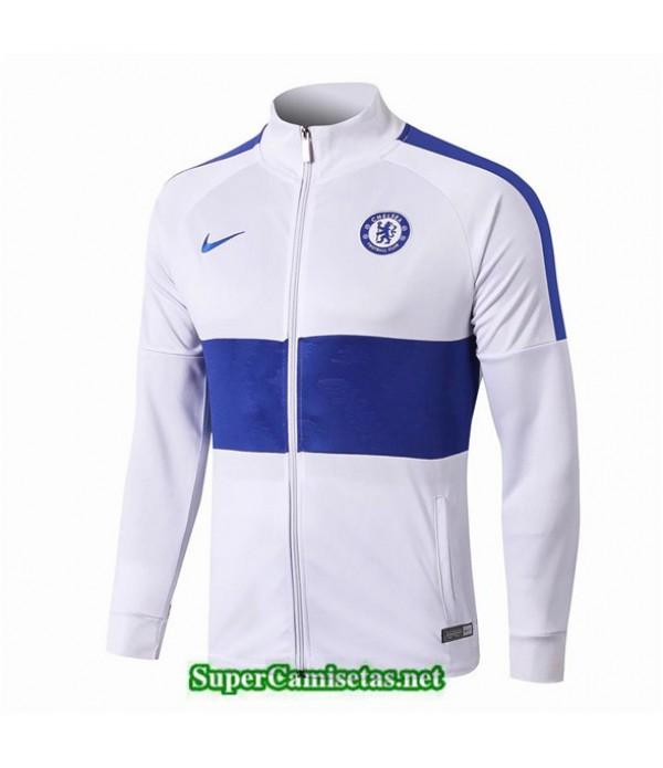 Tailandia Camiseta Chelsea Chaqueta V309 Blanco/azul Oscuro 2019/20
