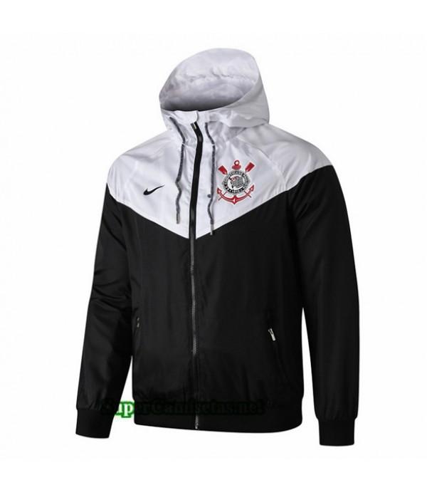 Tailandia Camiseta Corinthians Chaqueta Rompevientos Sombrero V283 Negro/blanco 2019/20