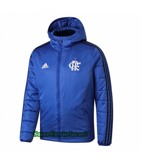 Tailandia Camiseta Flamengo Doudoune Chaqueta Sombrero V286 Azul 2019/20