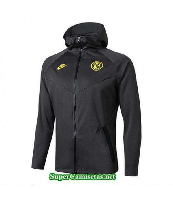 Tailandia Camiseta Inter Milan Chaqueta Sombrero V341 Negro 2019/20