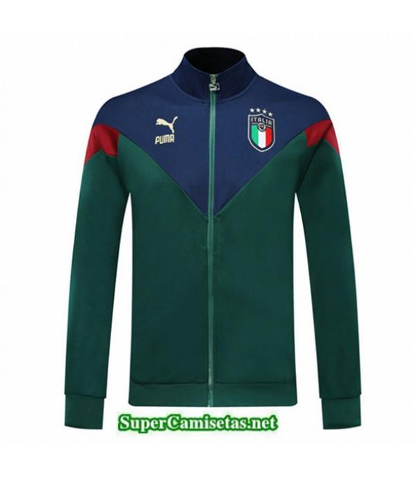 Tailandia Camiseta Italy Chaqueta V332 Verde/azul 2019/20