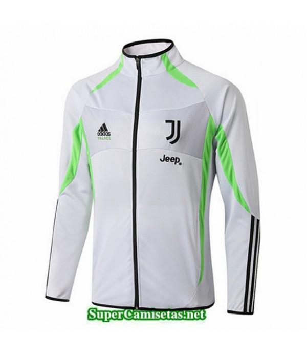 Tailandia Camiseta Juventus Chaqueta V344 Blanco/banda Verde 2019/20