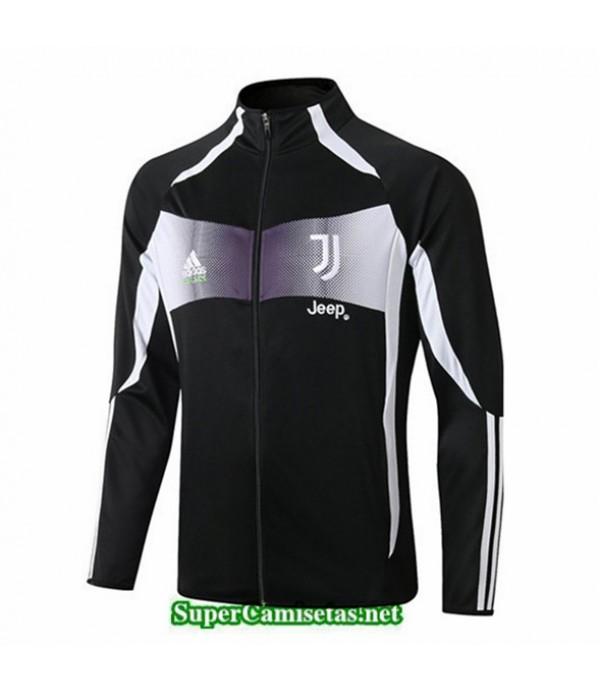 Tailandia Camiseta Juventus Chaqueta V345 Negro/ Banda Blanco 2019/20